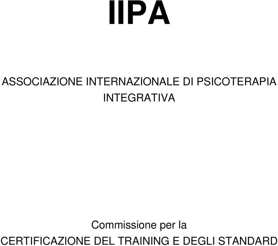 INTEGRATIVA Commissione per la