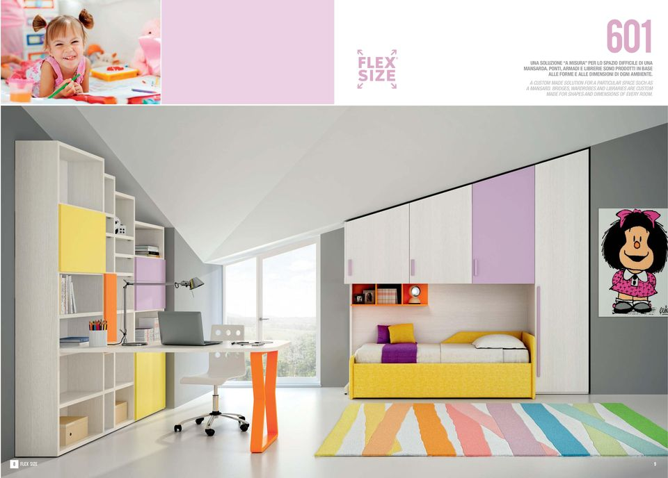 OGNI AMBIENTE. A CUSTOM MADE SOLUTION FOR A PARTICULAR SPACE SUCH AS A MANSARD.