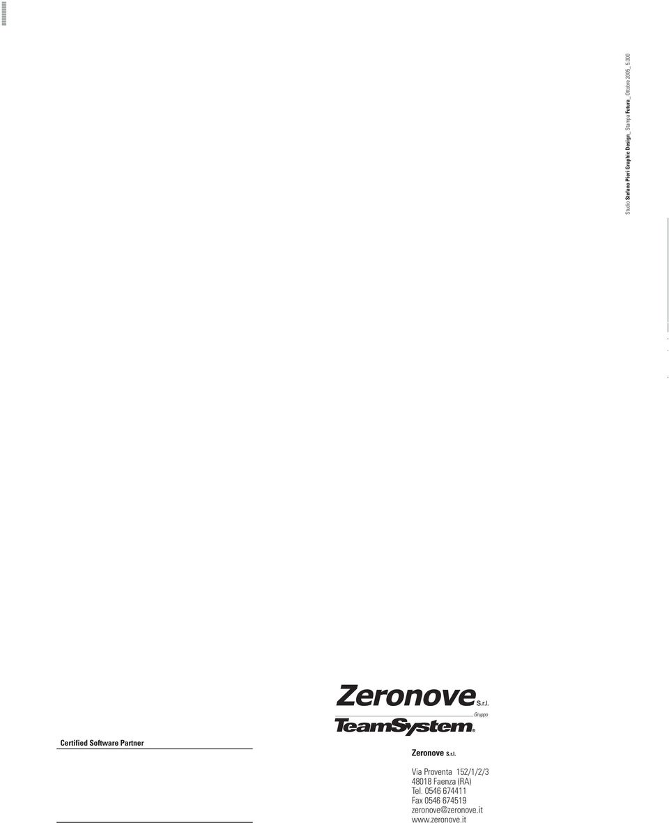 000 Certified Software Partner Zeronove S.r.l.