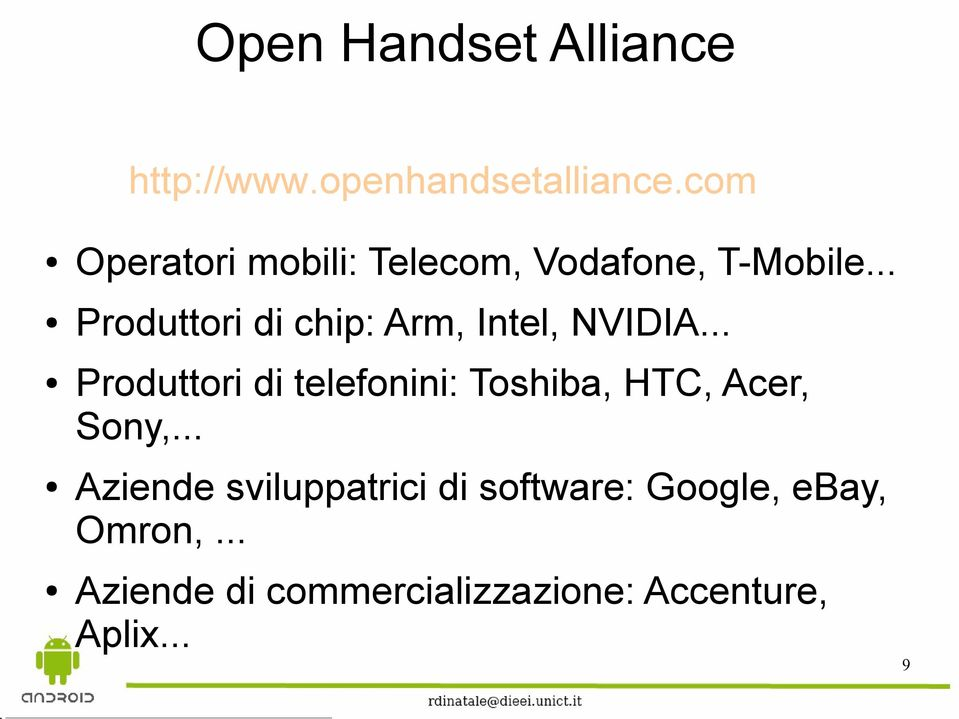 .. Produttori di chip: Arm, Intel, NVIDIA.