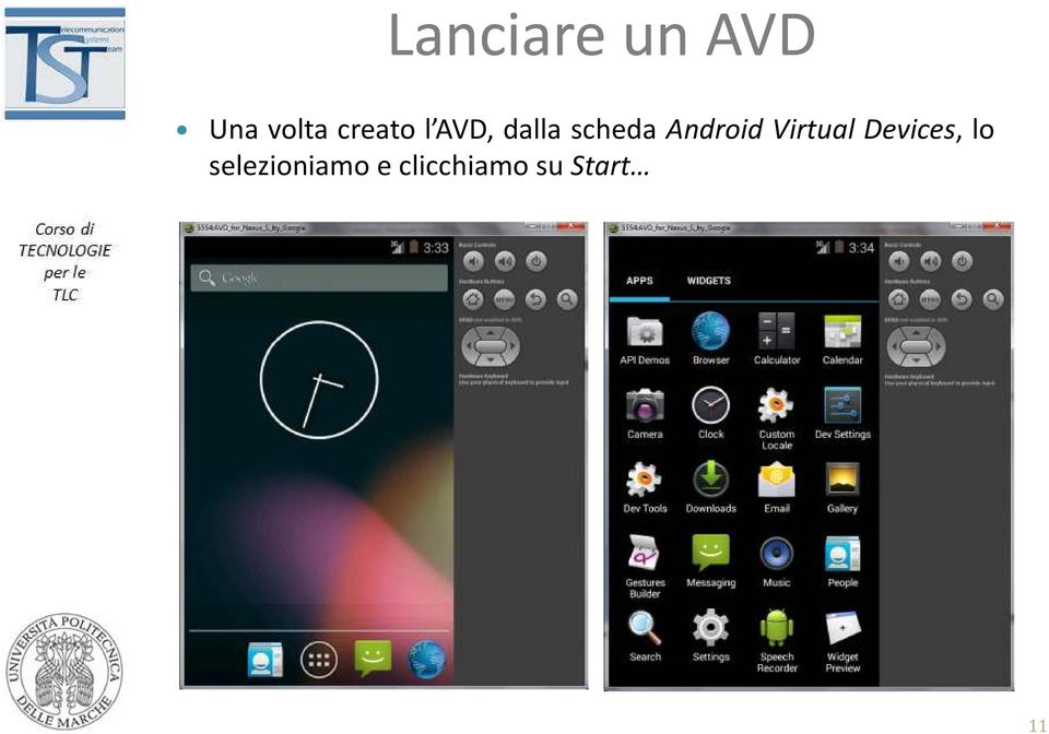 Android Virtual Devices, lo