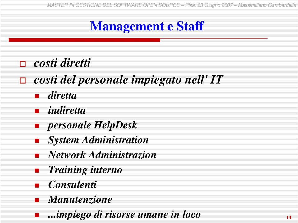 System Administration Network Administrazion Training