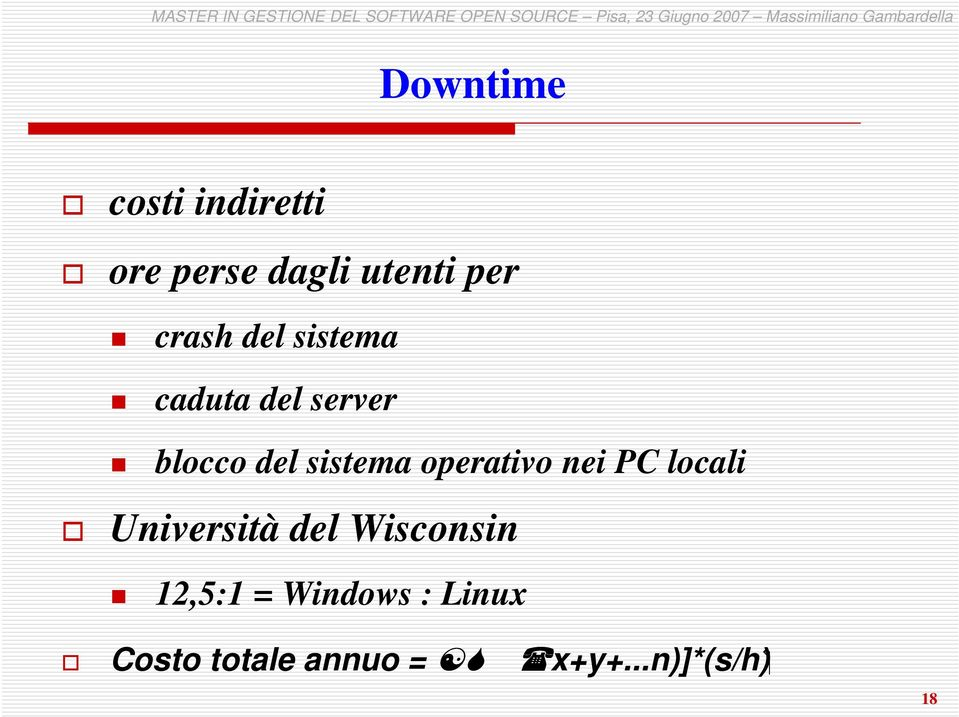 operativo nei PC locali Università del Wisconsin 12,5:1