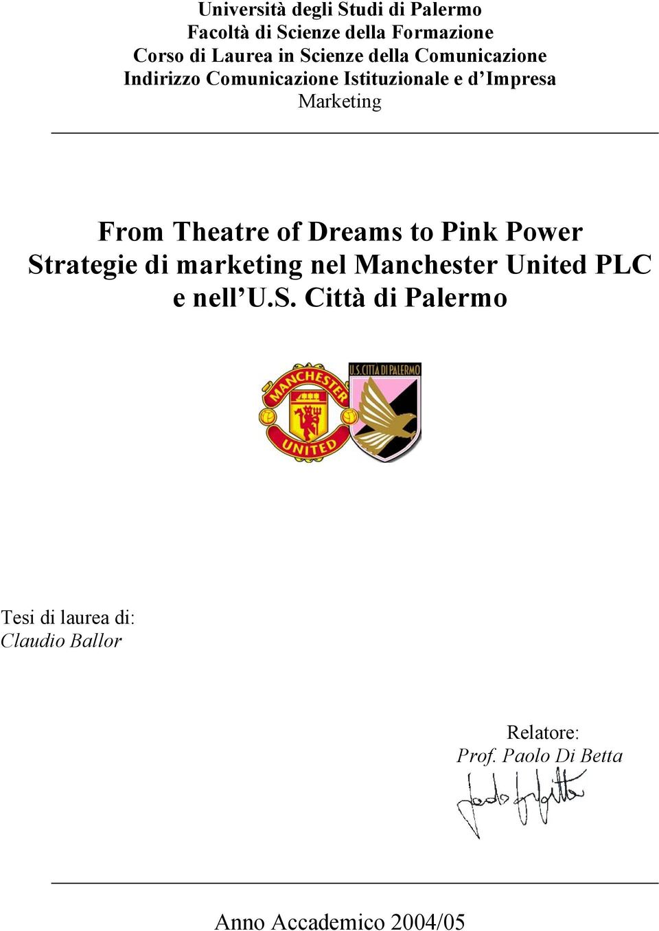 Theatre of Dreams to Pink Power St
