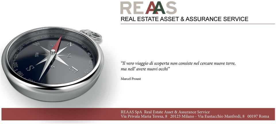 Marcel Proust REAAS SpA Real Estate Asset & Assurance Service Via