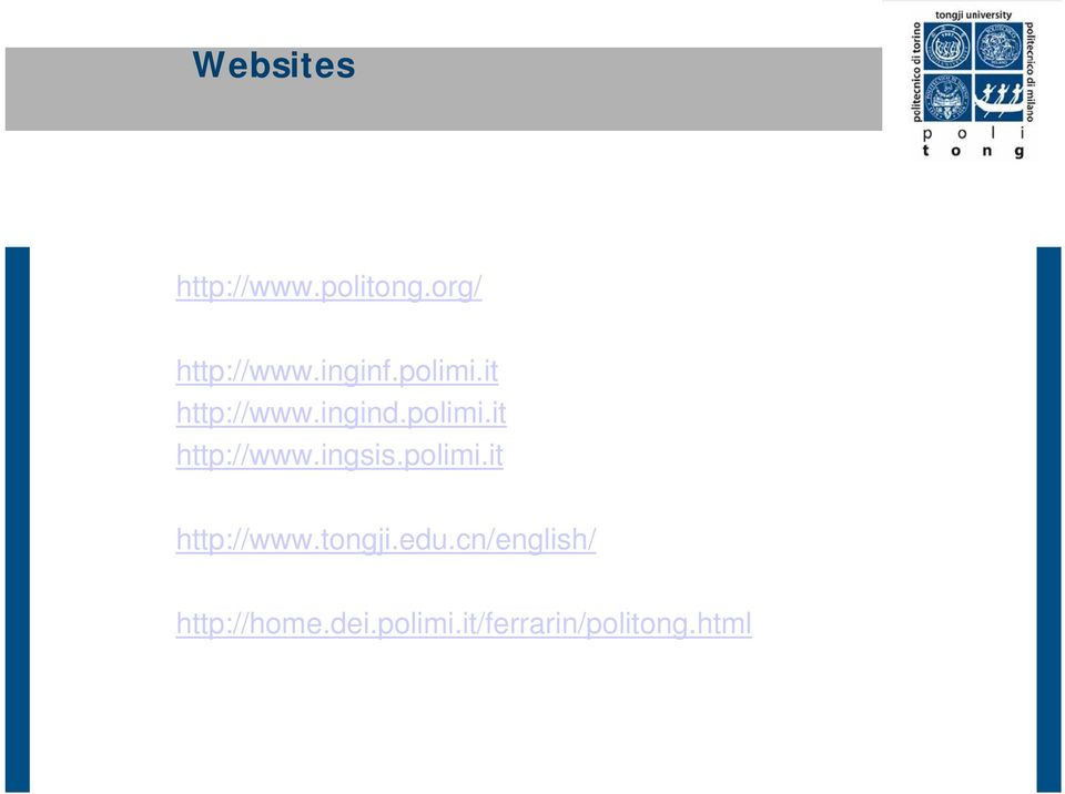 polimi.it http://www.tongji.edu.