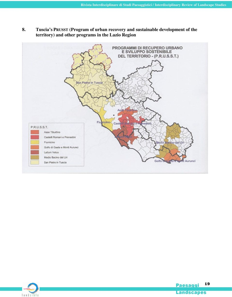 Tuscia s PRUSST (Program of urban recovery and