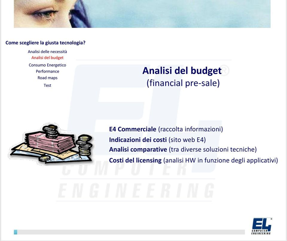 Analisi del budget (financial pre-sale) E4 Commerciale (raccolta informazioni)