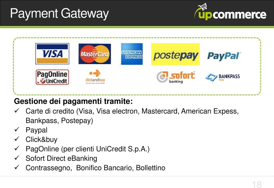 Postepay) Paypal Click&buy PagOnline (per clienti UniCredit S.p.A.