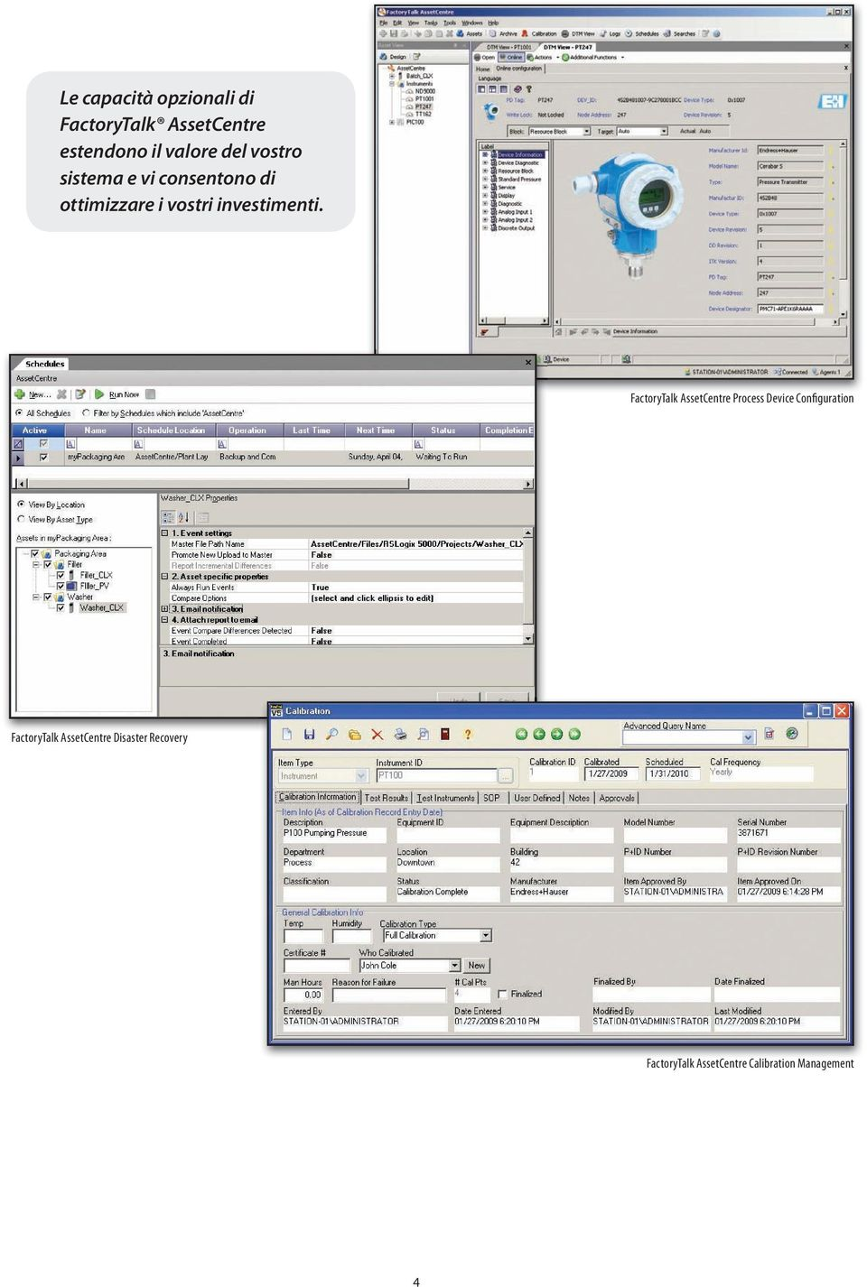 FactoryTalk AssetCentre Process Device Configuration FactoryTalk