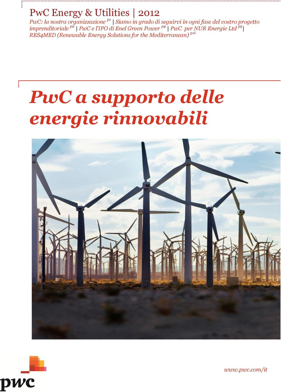 Enel Green Power p4 PwC per NUR Energie Ltd p5 RES4MED (Renewable Energy