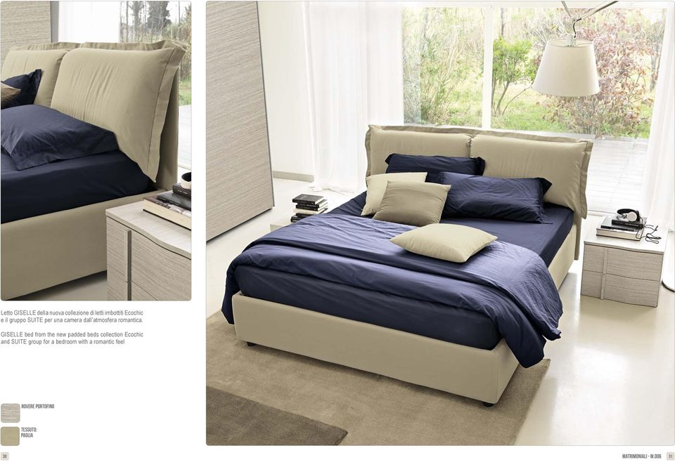 GISELLE bed from the new padded beds collection Ecochic and SUITE group