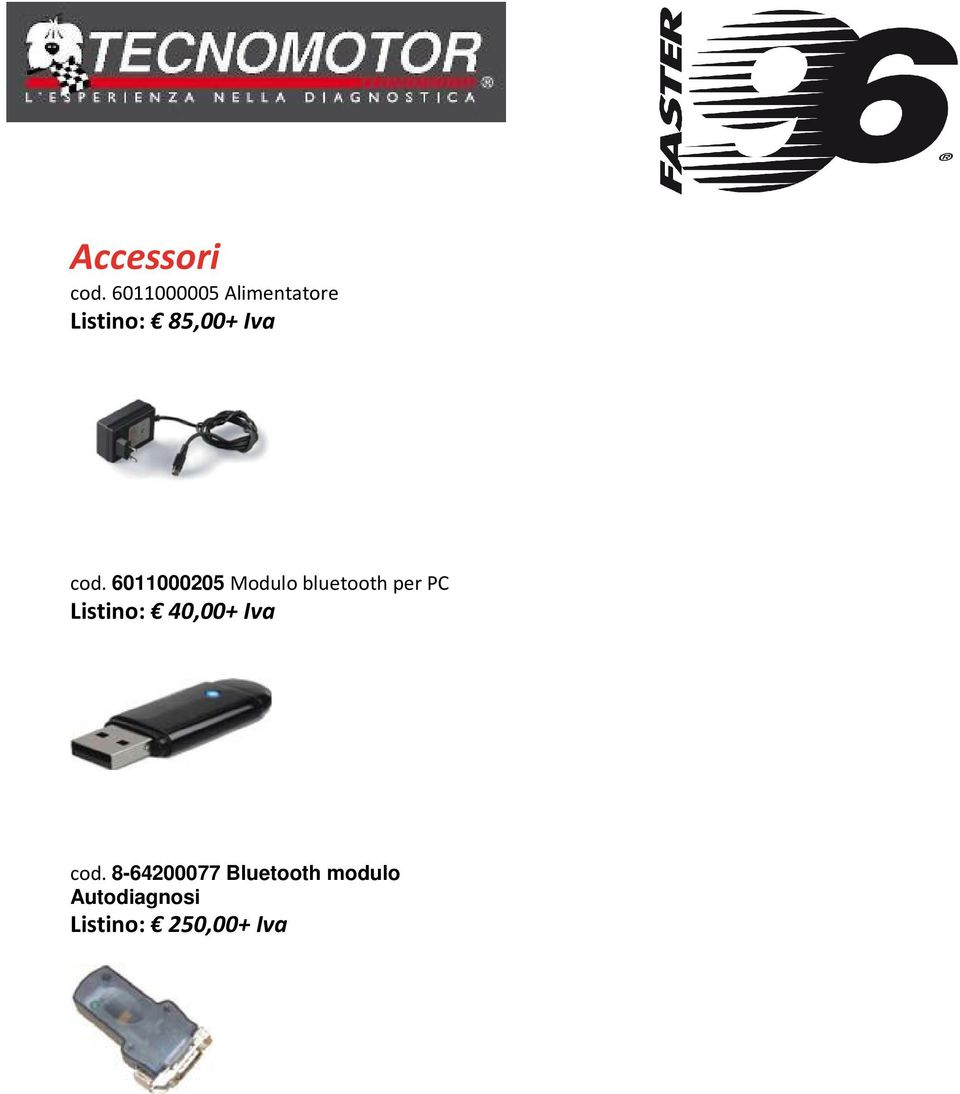 cod. 6011000205 Modulo bluetooth per PC