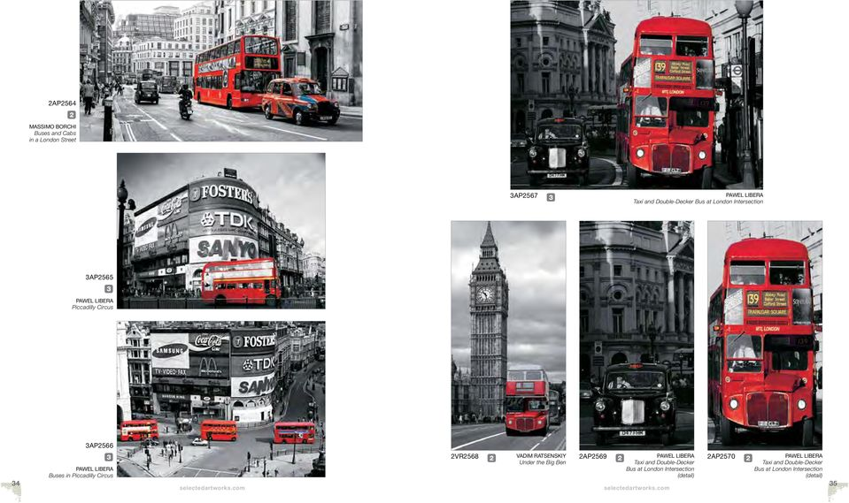 Circus VR568 VADIM RATSENSKIY Under the Big Ben AP569 PAWEL LIBERA Taxi and Double-Decker Bus at