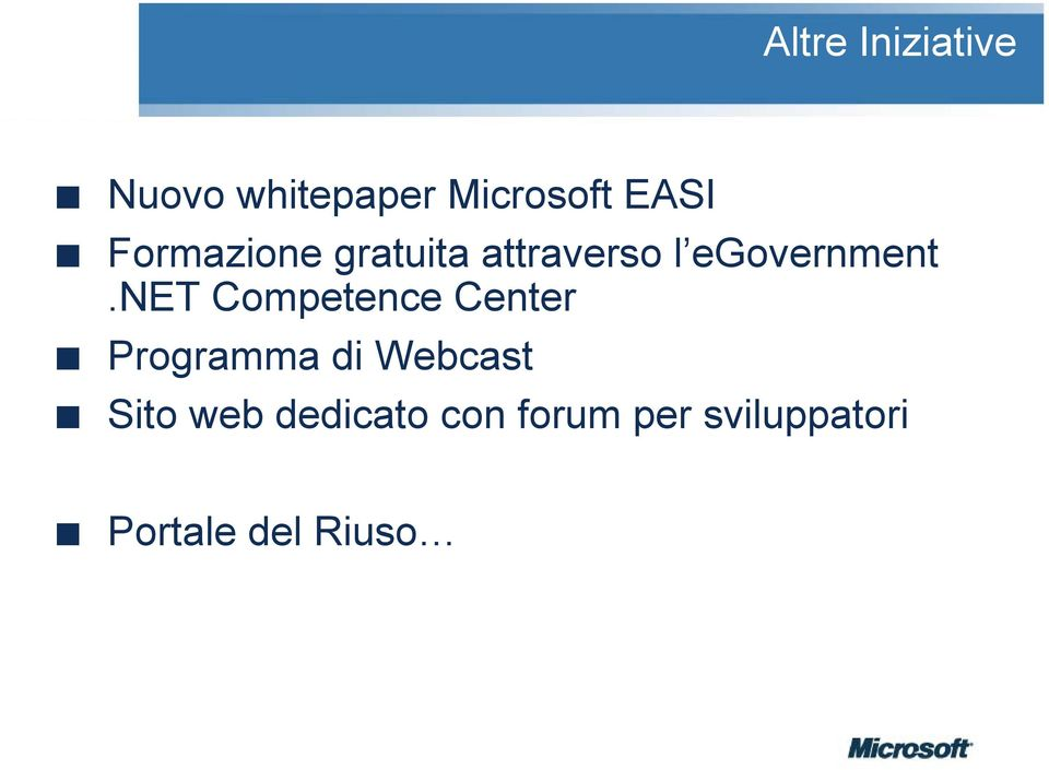 net Competence Center Programma di Webcast Sito