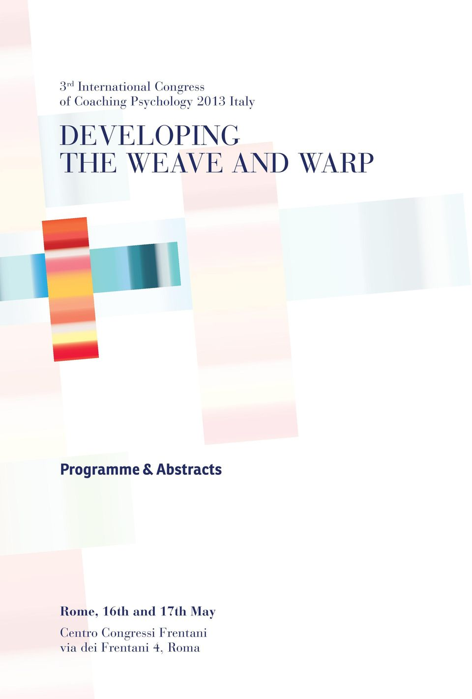 WARP Programme & Abstracts Rome, 16th and 17th