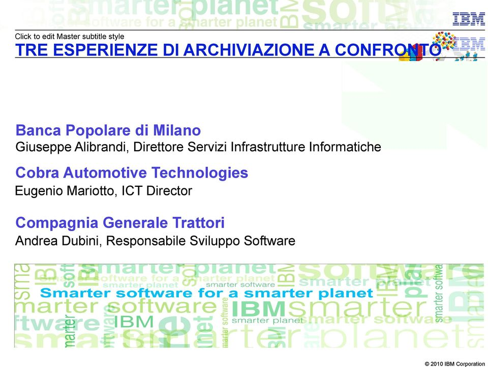 Infrastrutture Informatiche Cobra Automotive Technologies Eugenio Mariotto,