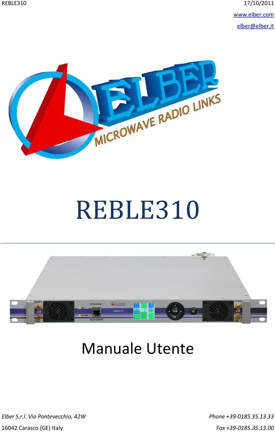 it REBLE310 Manuale