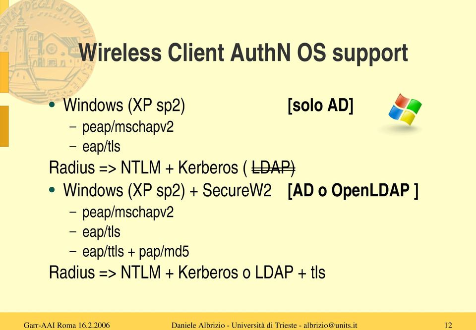 Windows (XP sp2) + SecureW2 [AD o OpenLDAP ] peap/mschapv2