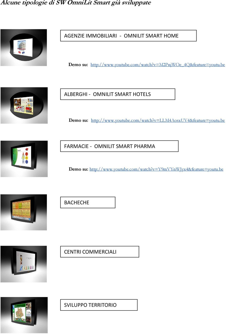 be ALBERGHI - OMNILIT SMART HOTELS Demo su: http://www.youtube.com/watch?v=llm4aosxuv4&feature=youtu.