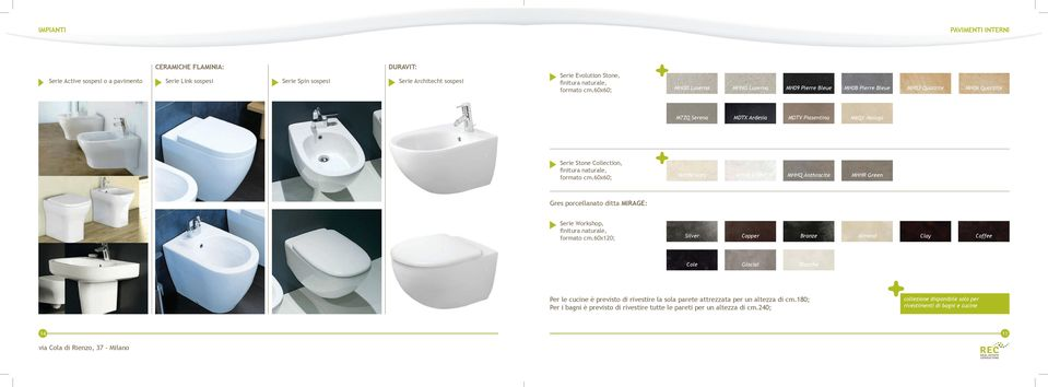 60x60; MHHN Ivory MHHP White MHHQ Anthracite MHHR Green Gres porcellanato ditta MIRAGE: Serie Workshop, formato cm.