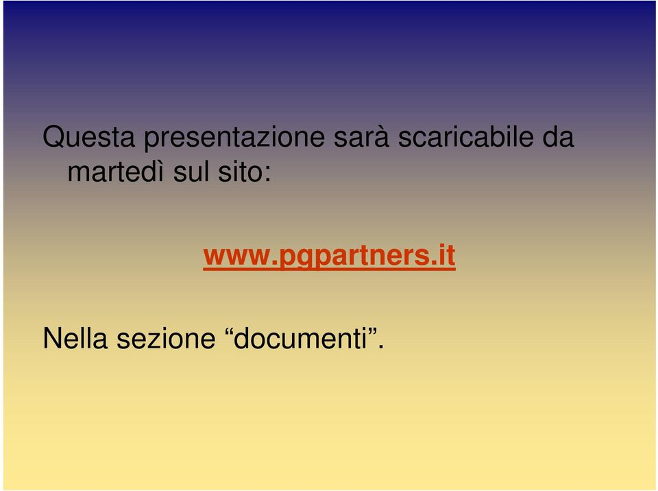 sul sito: www.pgpartners.