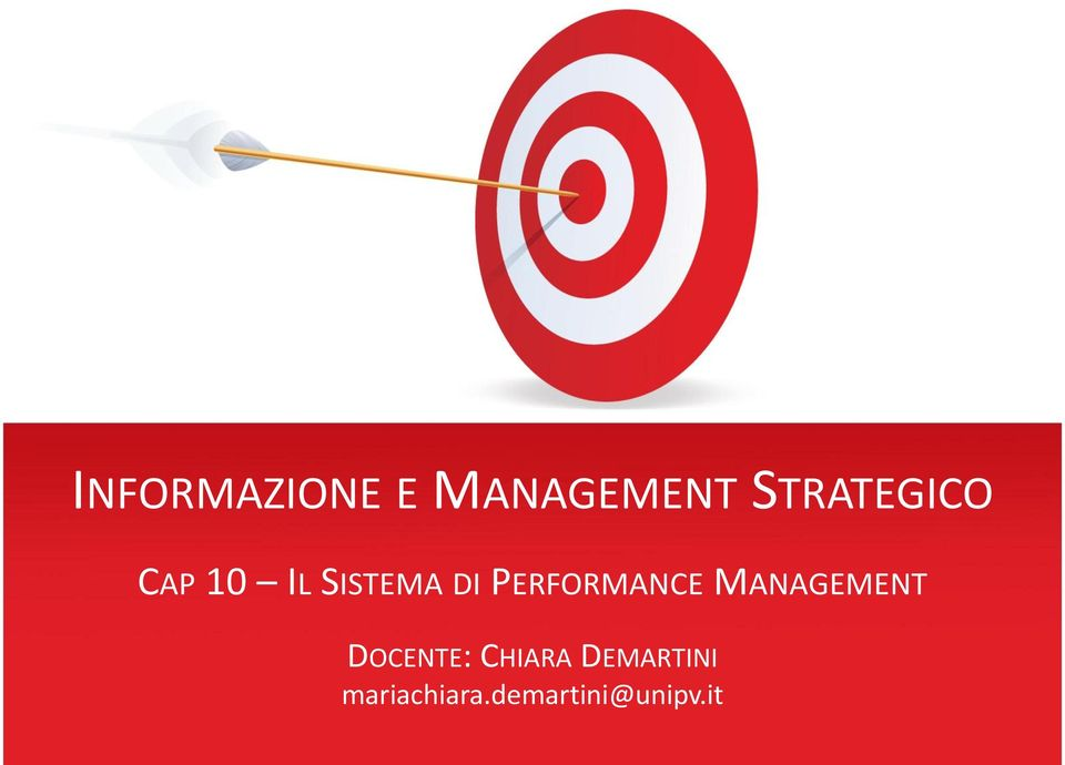 PERFORMANCE MANAGEMENT DOCENTE: