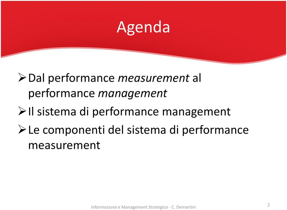 performance management Le componenti