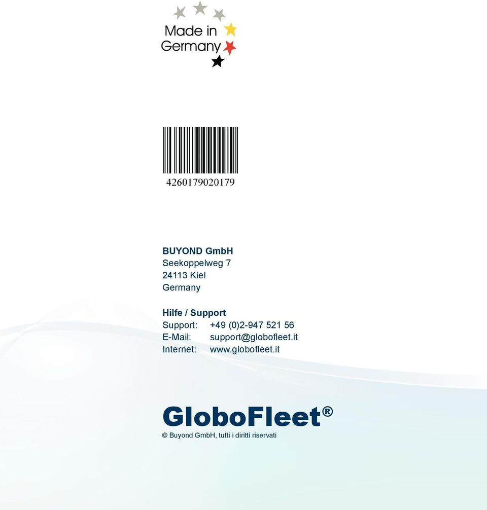 E-Mail: support@globofleet.it Internet: www.