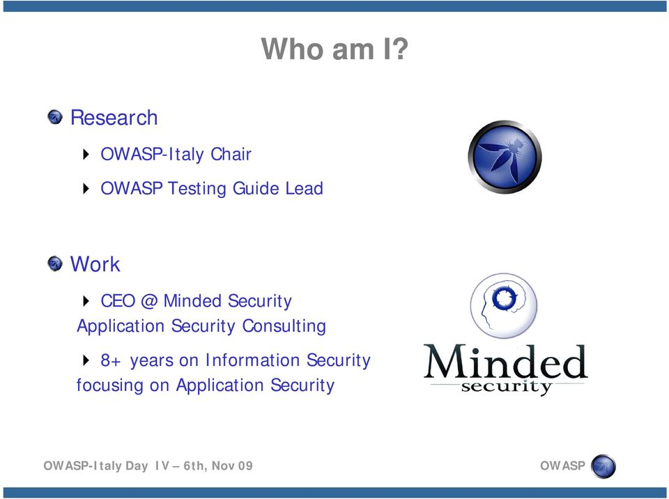 Lead Work CEO @ Minded Security Application