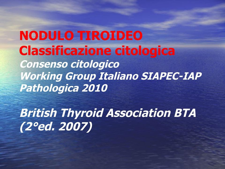 Group Italiano SIAPEC-IAP Pathologica