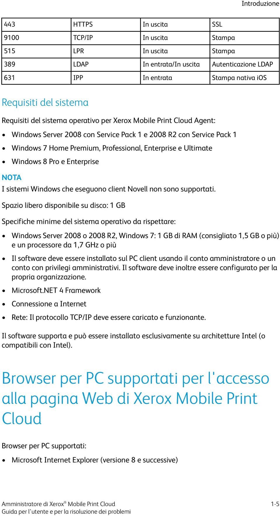 Windows 8 Pro e Enterprise I sistemi Windows che eseguono client Novell non sono supportati.