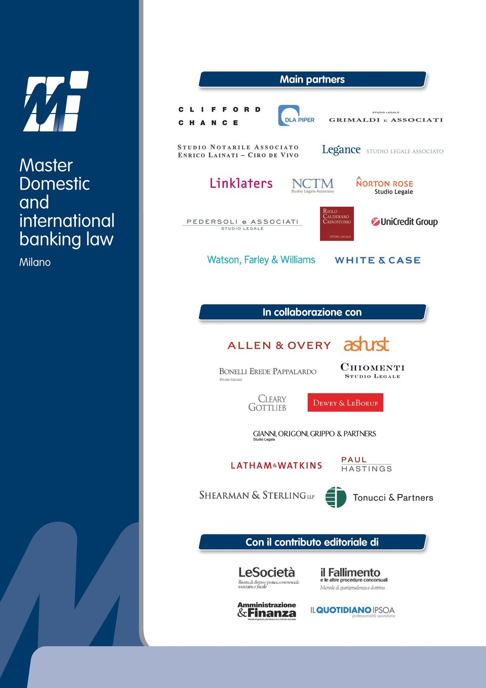 banking law Milano In