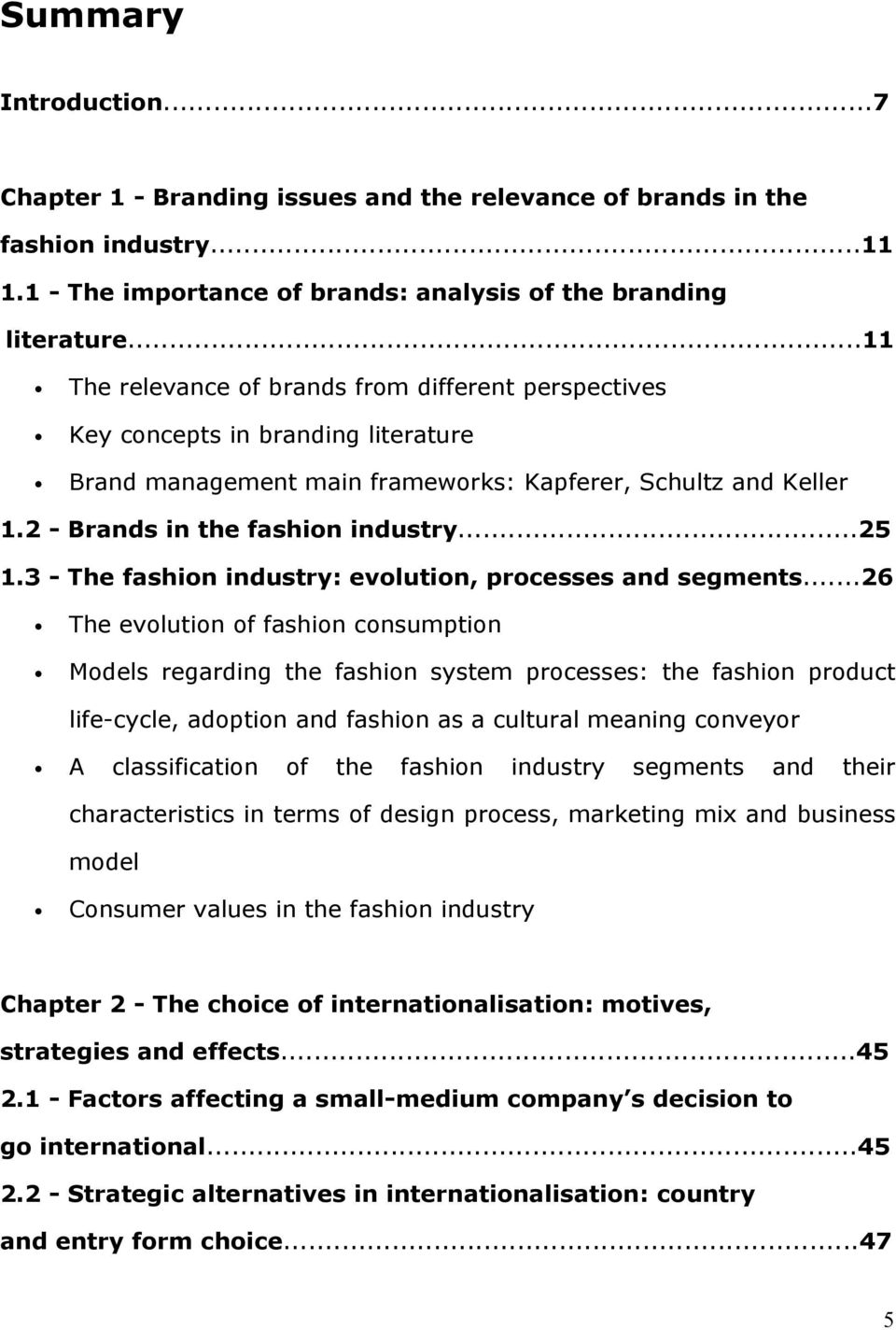 3 - The fashion industry: evolution, processes and segments.