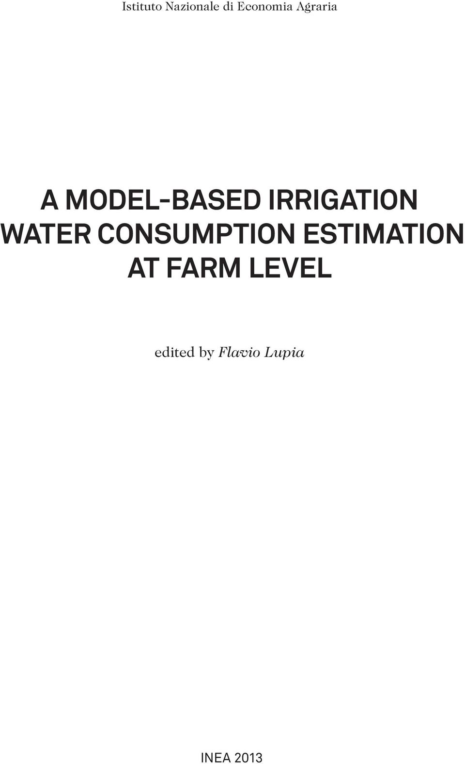 water consumption estimation at