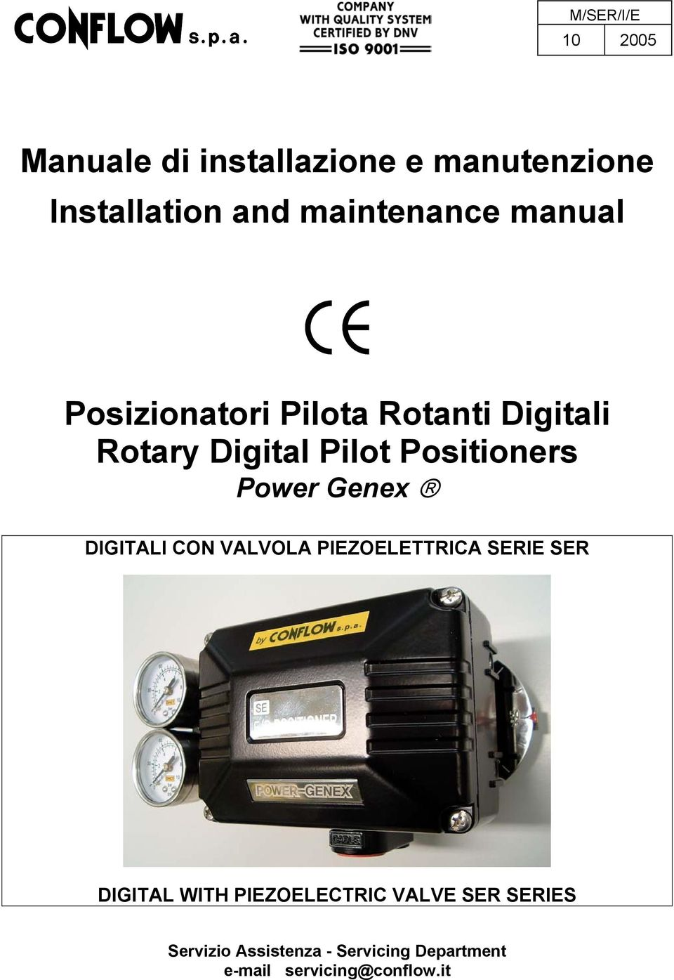 Positioners Power Genex DIGITALI CON VALVOLA PIEZOELETTRICA SERIE SER DIGITAL WITH