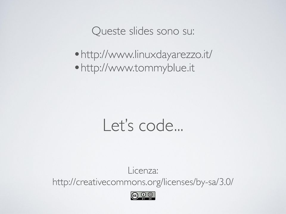 tommyblue.it Let s code.