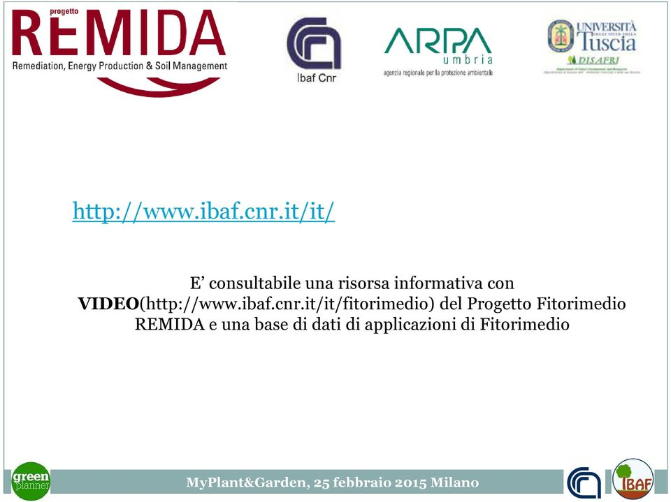 con VIDEO(it/it/fitorimedio) del Progetto