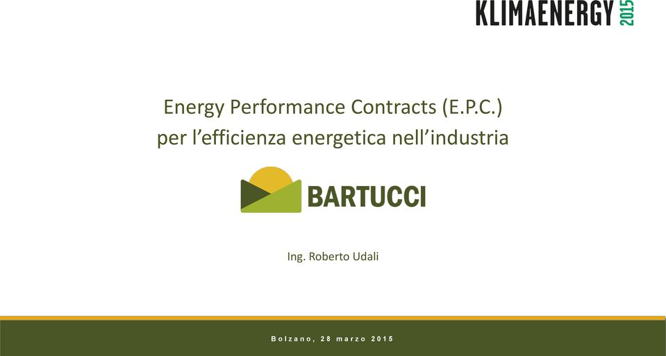 ) per l efficienza energetica