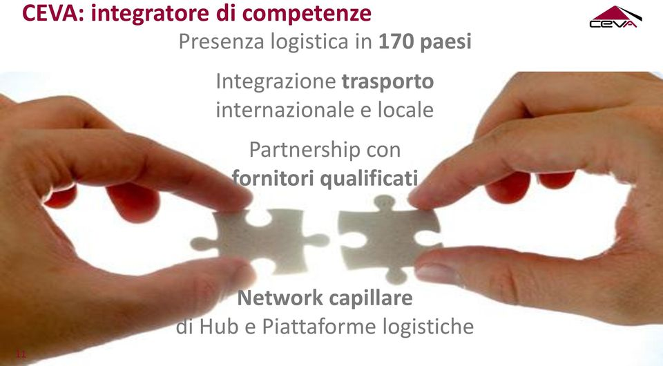 e locale Partnership con fornitori qualificati 11