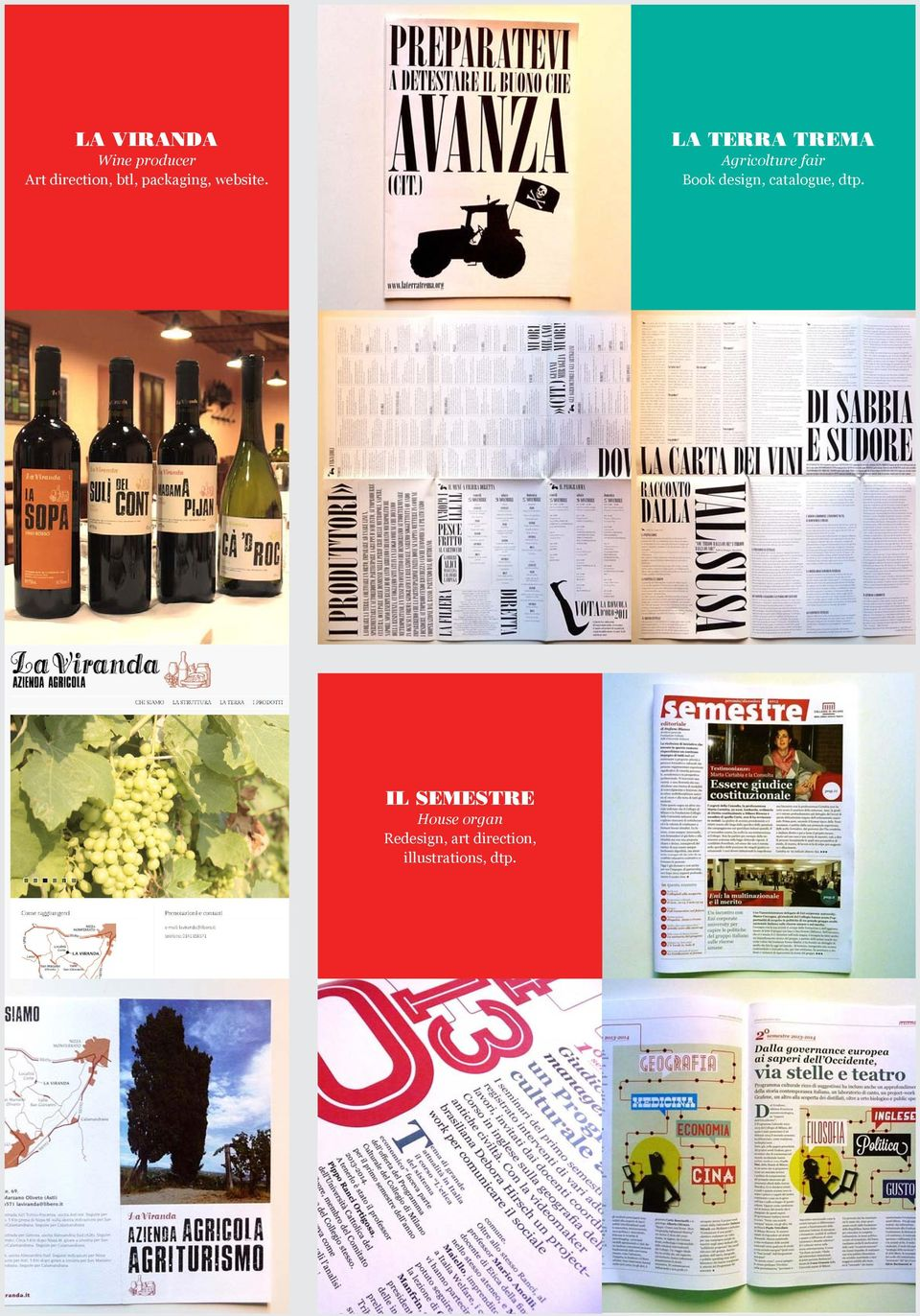 LA TERRA TREMA Agricolture fair Book design,
