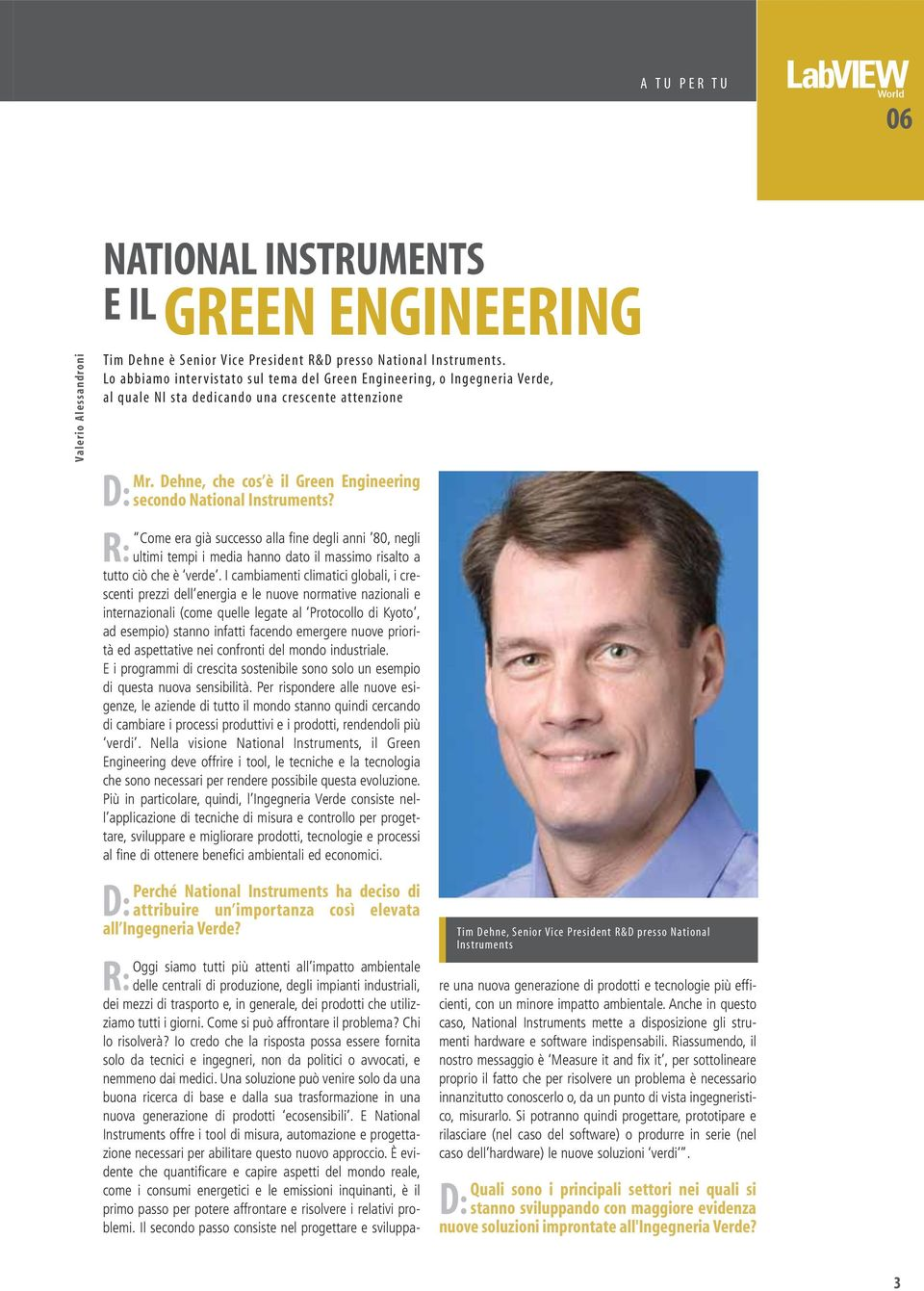 Dehne, che cos è il Green Engineering D: secondo National Instruments?