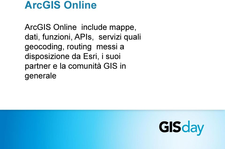 geocoding, routing messi a disposizione da