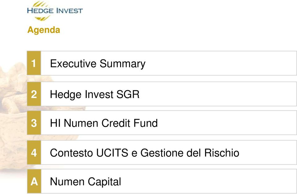 Credit Fund 4 A Contesto UCITS
