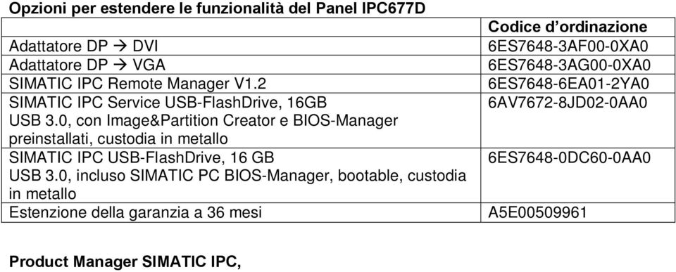 0, con Image&Partition Creator e BIOS-Manager preinstallati, custodia in metallo SIMATIC IPC USB-FlashDrive, 16 GB USB 3.