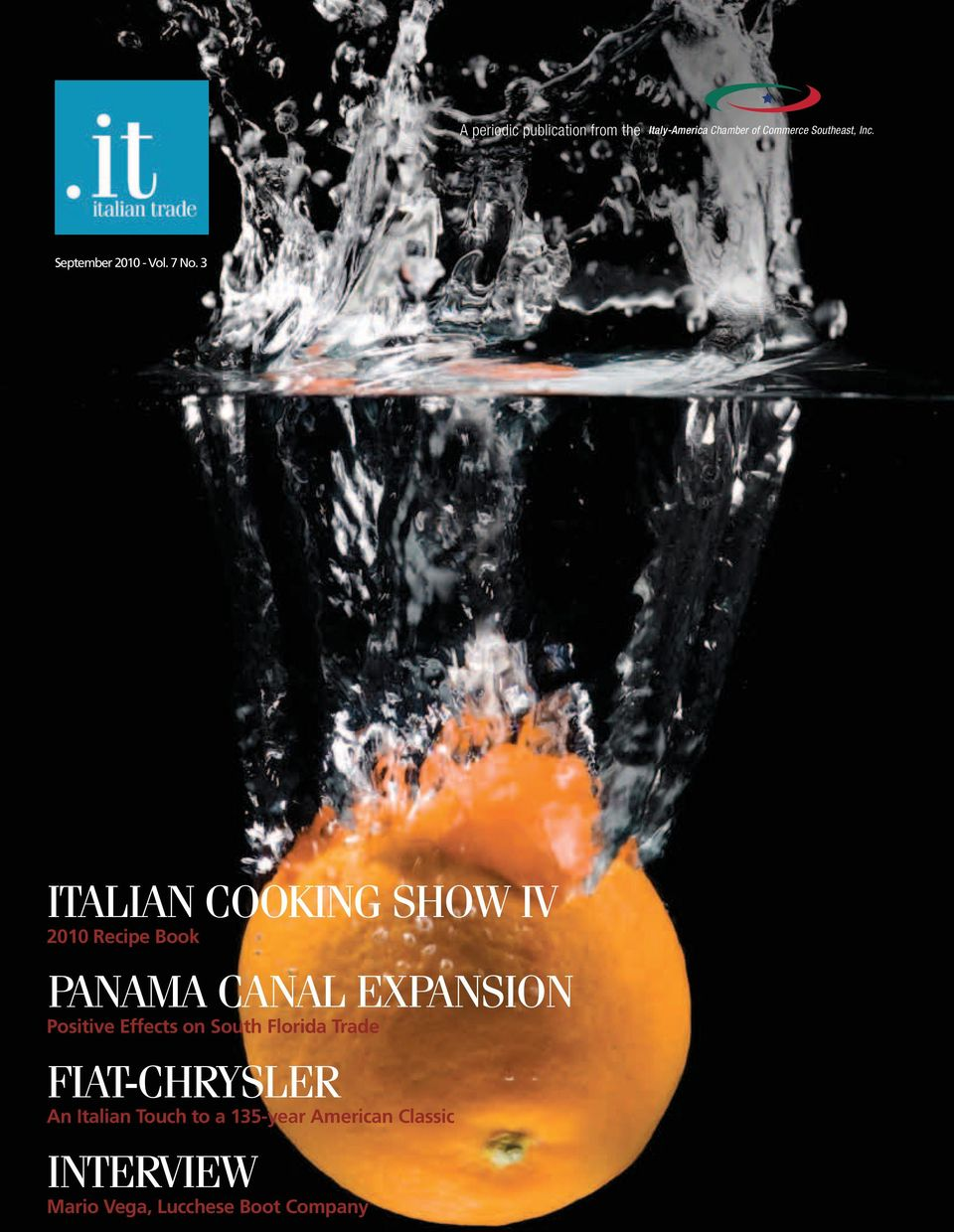 3 ITALIAN COOKING SHOW IV 2010 Recipe Book PANAMA CANAL EXPANSION Positive