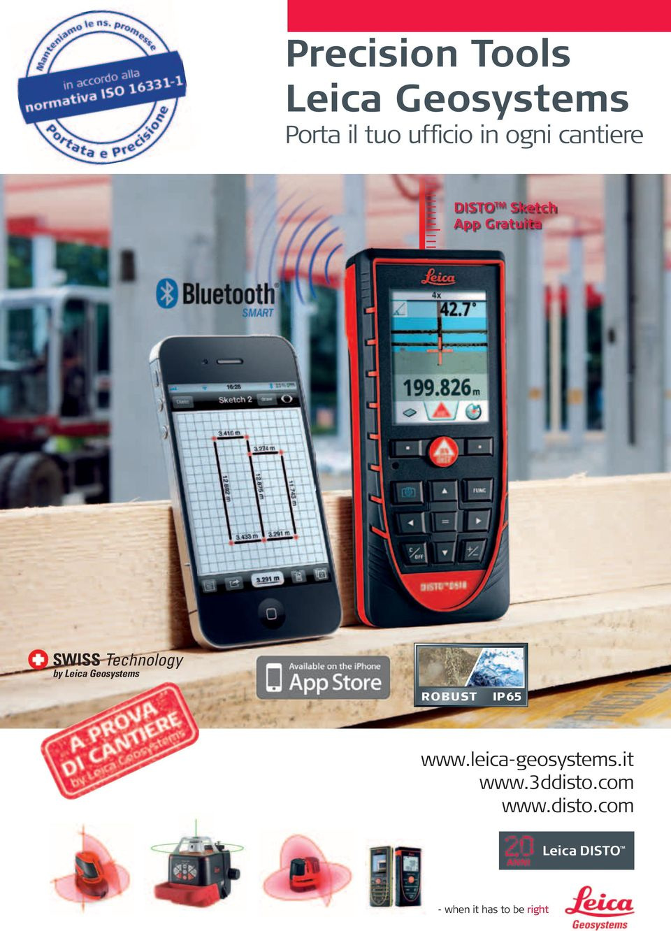 Leica Geosystems ROBUST IP65 www.leica-geosystems.it www.