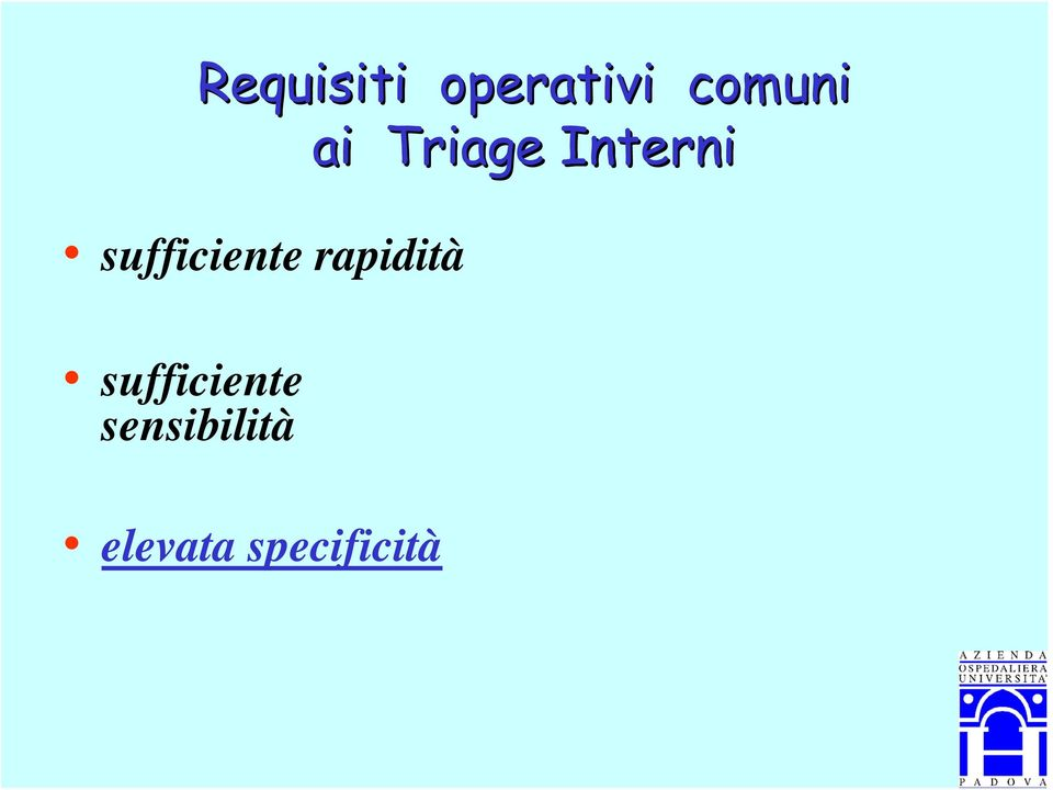 Triage Interni sufficiente