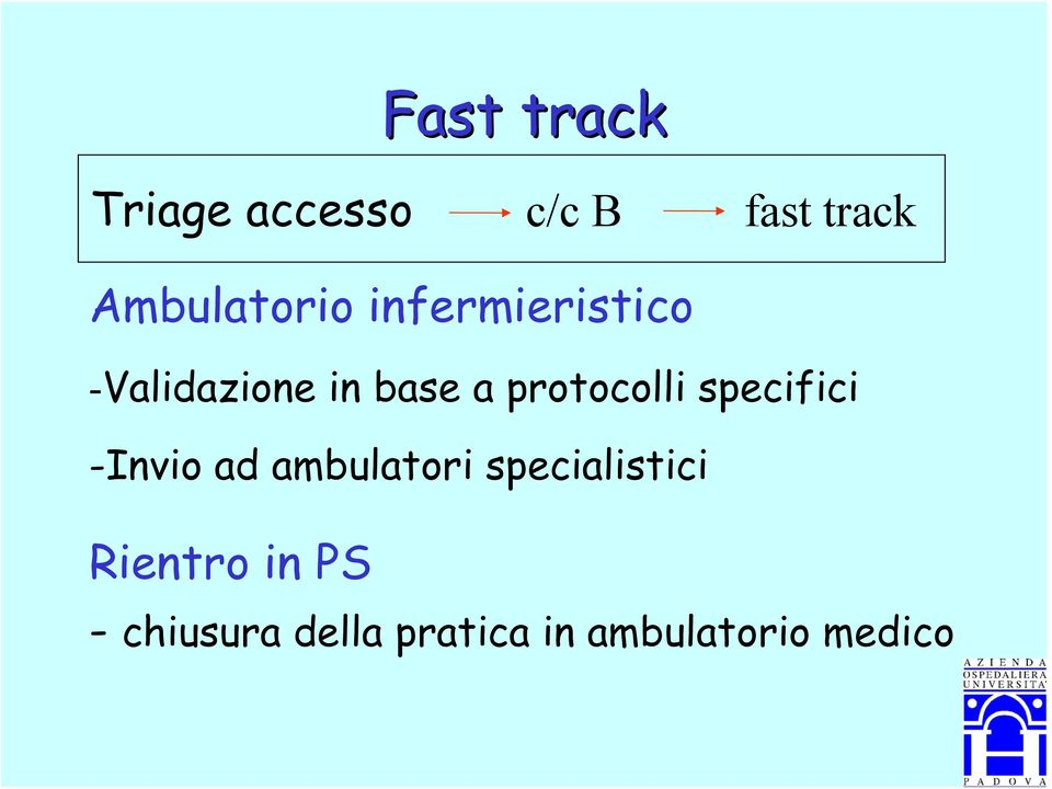protocolli specifici -Invio ad ambulatori