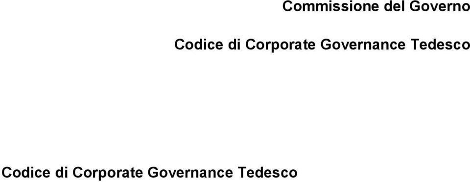 Governance Tedesco